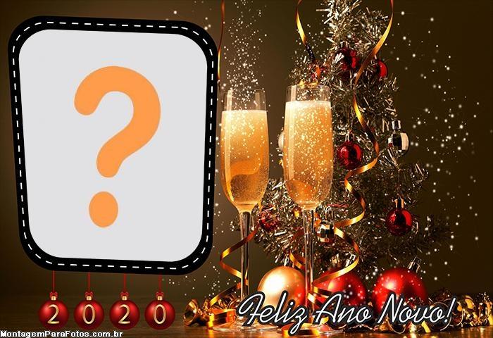 Feliz Ano Novo 2020 Moldura