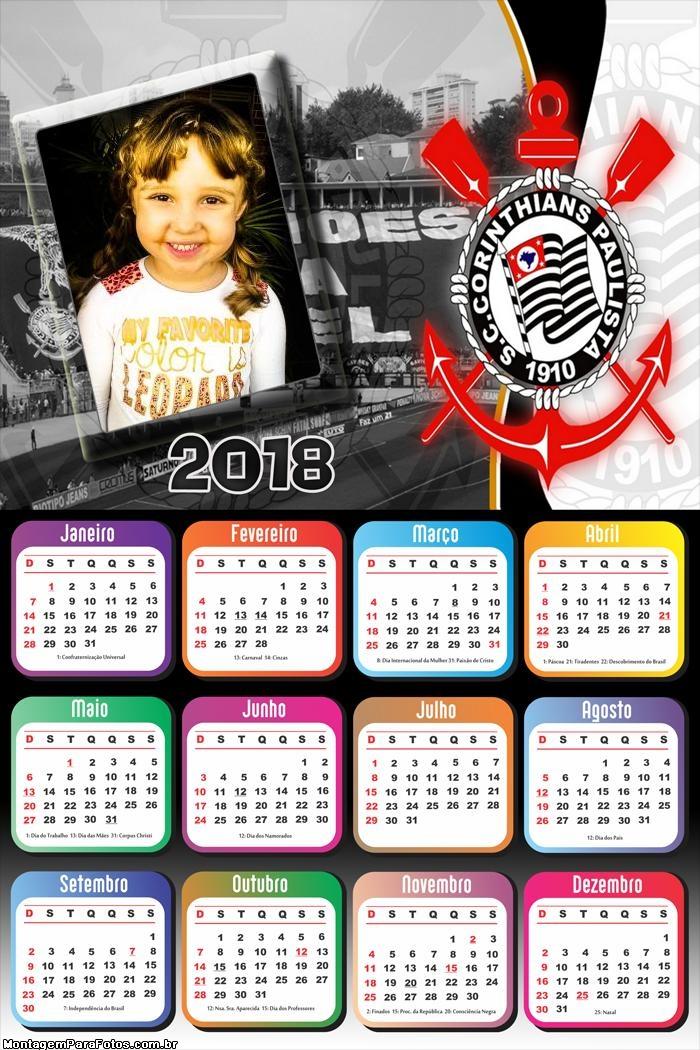 Calendário 2018 do Corinthians Futebol