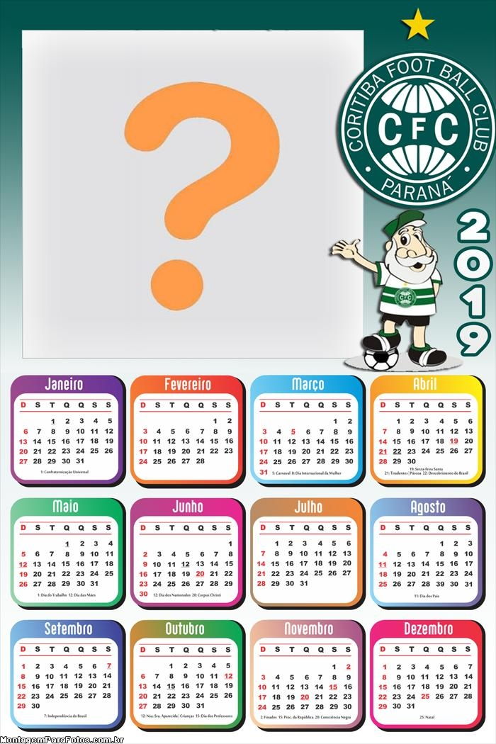 Calendário 2019 Coritiba Time