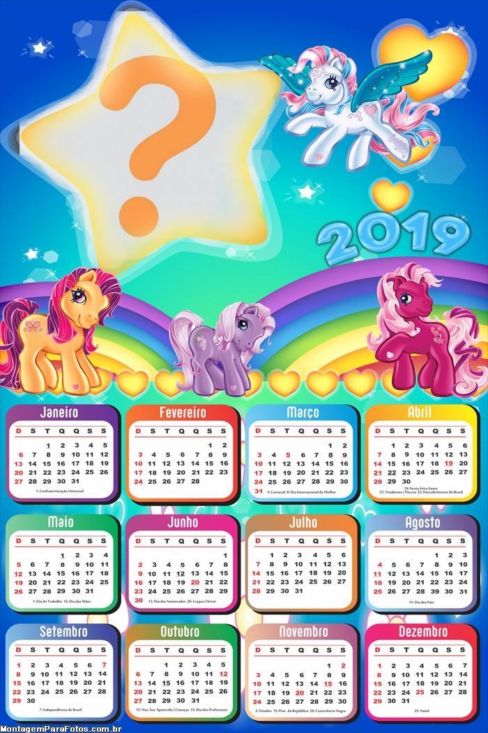 Calendário 2019 Ponny Coloridos