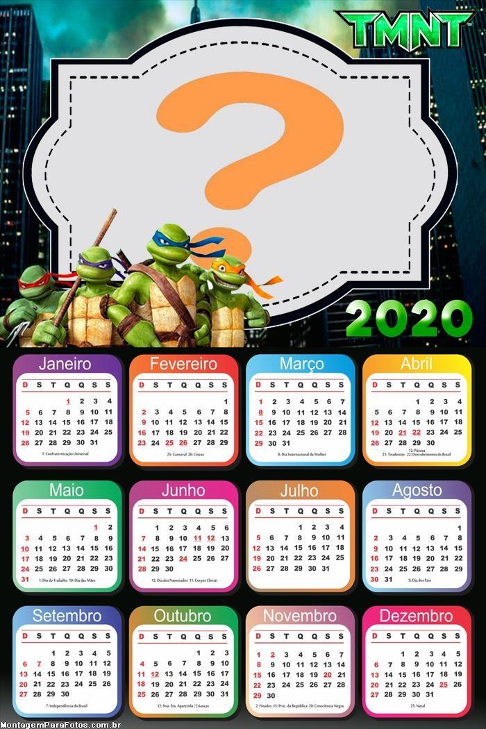 FotoMontagem Calendário 2020 Tartarugas Ninjas