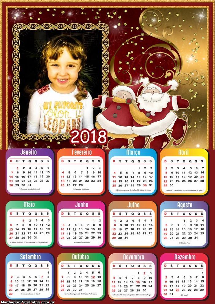 Shape Papai Noel Calendário 2018