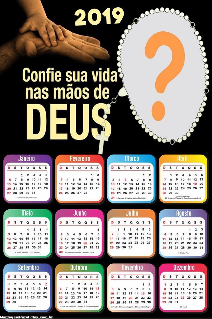 Calendário 2019 Nas Mãos de Deus