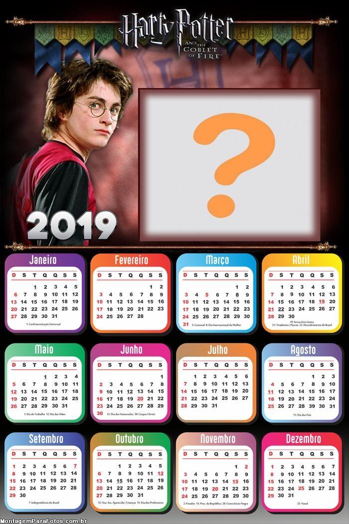 Calendário 2019 Harry Potter