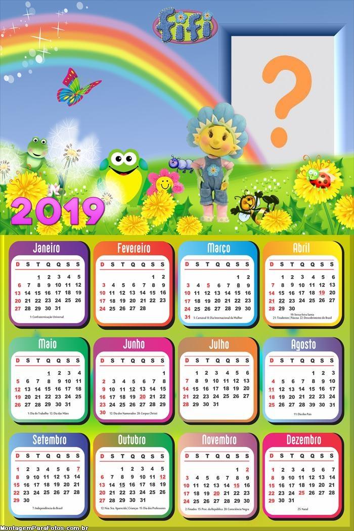 Calendário 2019 Fifi Desenho