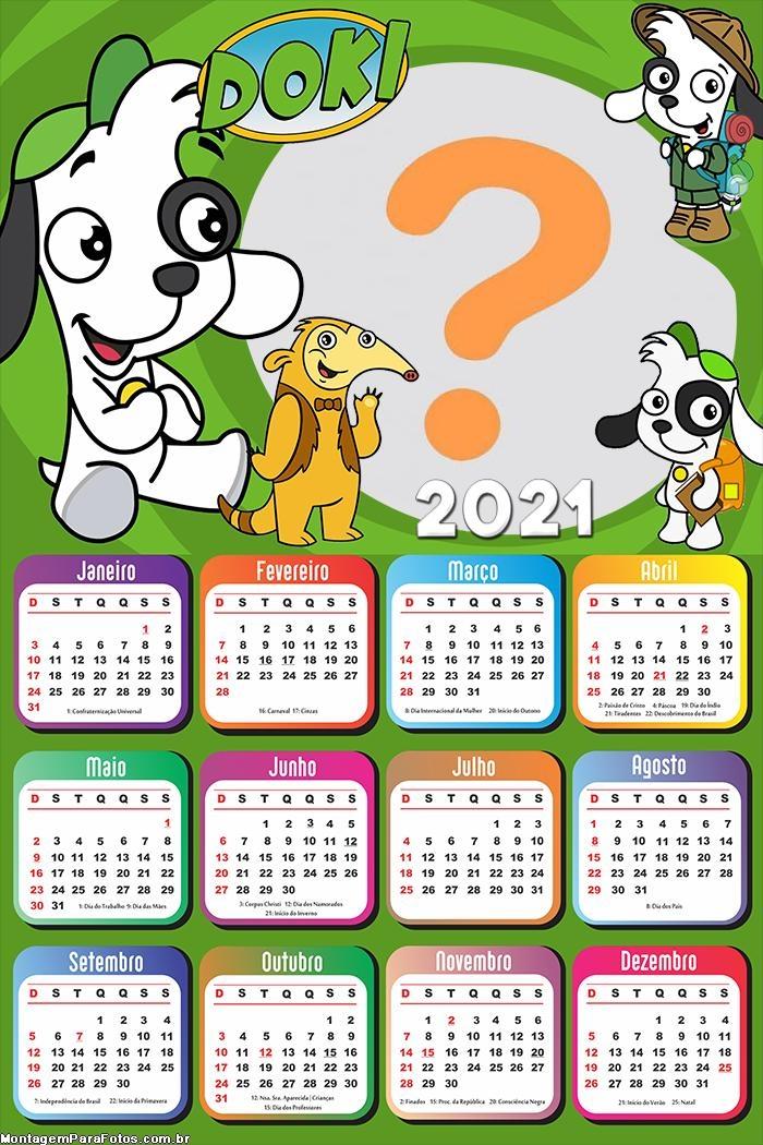 Calendário 2021 Doki Discovery Kids