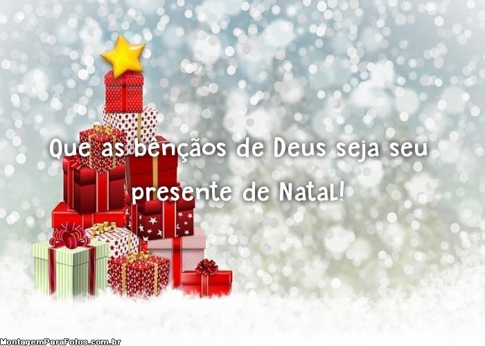 Presente de Natal Bençãos