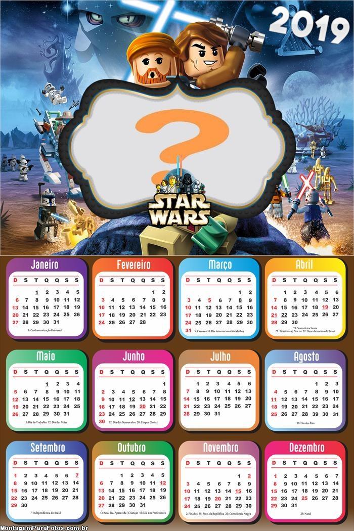 Calendário 2019 Star War Lego