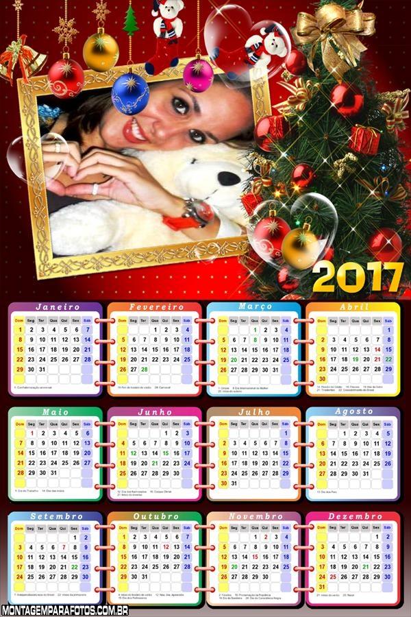 Calendário 2017 de Natal