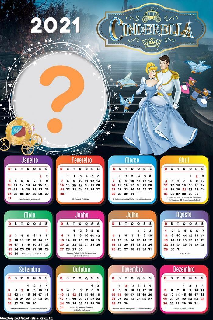 Calendário 2021 da Cinderella