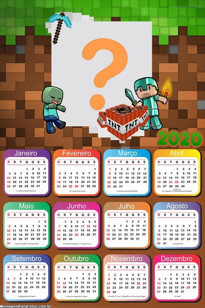 Calendário 2020 Minecraft Pocket Edition