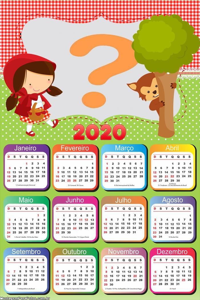 Calendário 2020 Chapeuzinho Vermelho