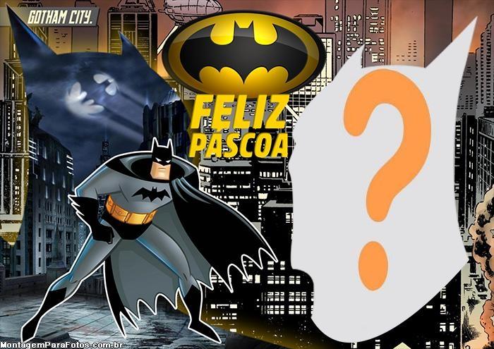 Colagem de Foto Feliz Páscoa do Batman