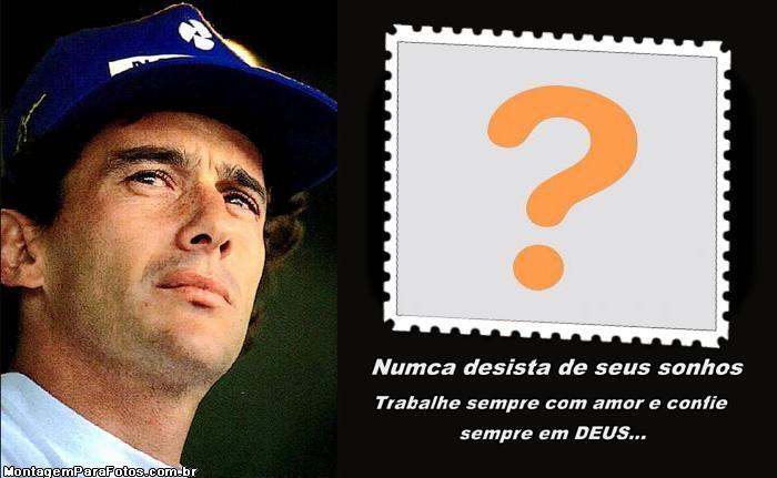 Mensagem Ayrton Senna Moldura