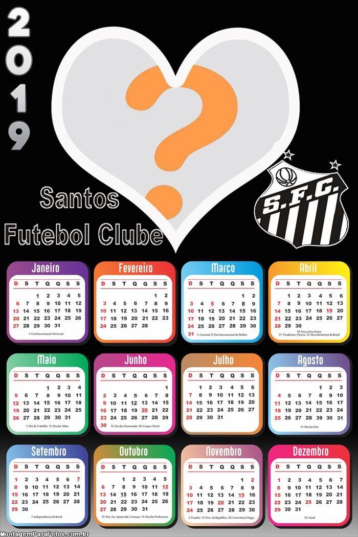 Calendário 2019 Santos Futebol