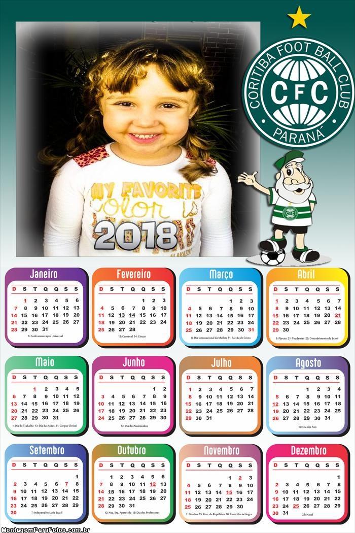 Calendário 2018 do Coritiba Time