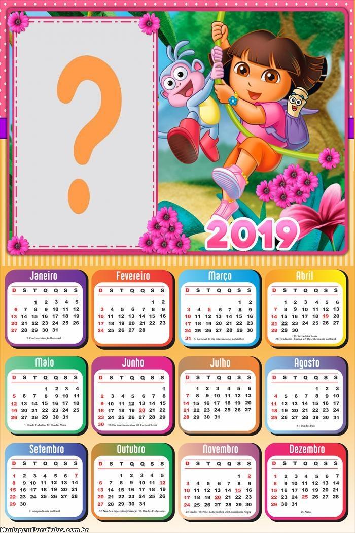 Calendário 2019 Dora Aventureira