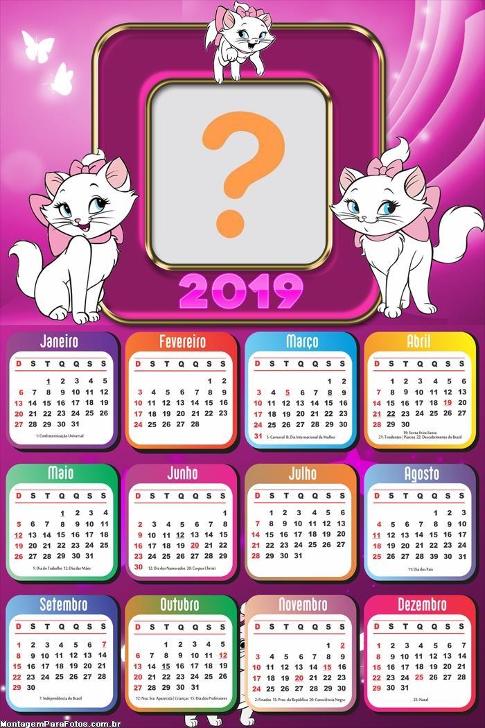 Calendário 2019 Gata Marie