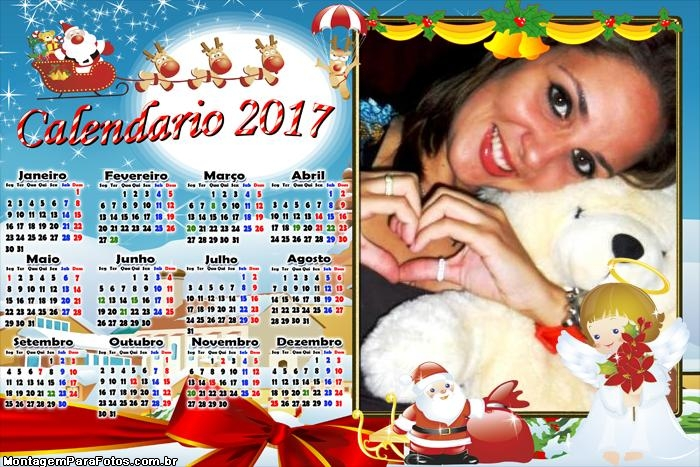 Calendário 2017 Anjinho de Natal