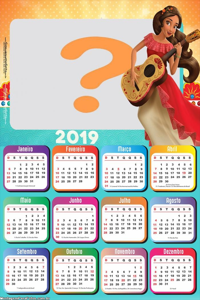 Calendário 2019 Elena de Avalor