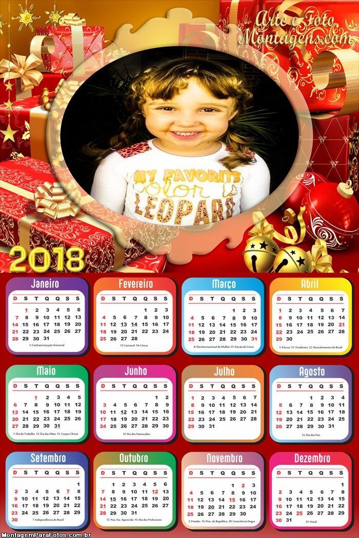 Calendário 2018 FotoMoldura Natal