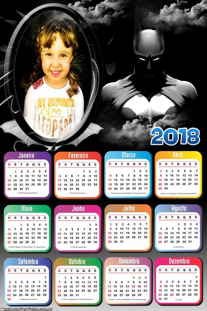 Calendário 2018 do Batman FotoMontagem
