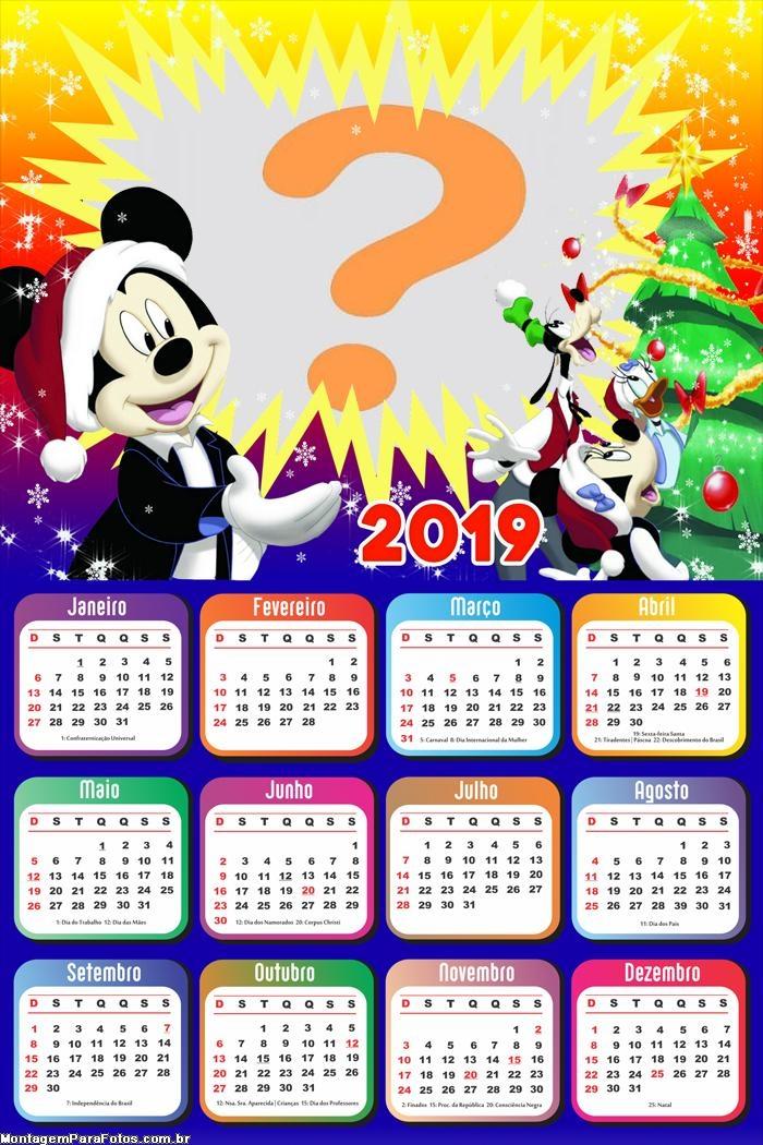 Calendário 2019 Natal Mickey