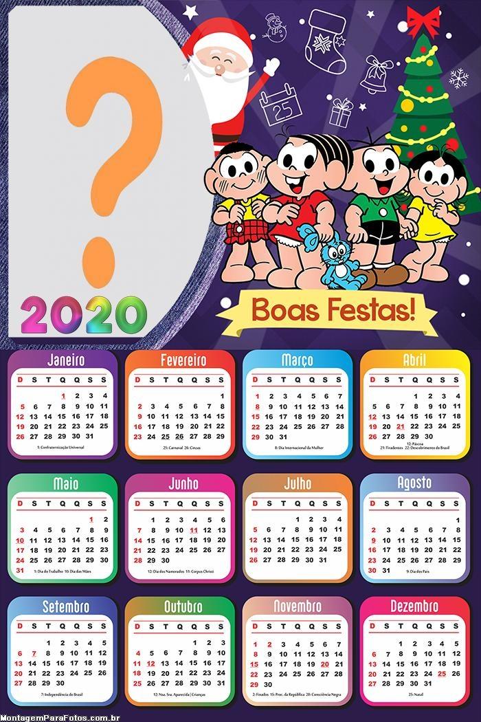 Calendário 2020 Boas Festas Turma da Mônica