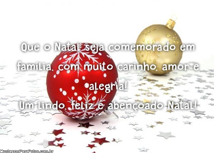 Abençoado Natal Mensagem
