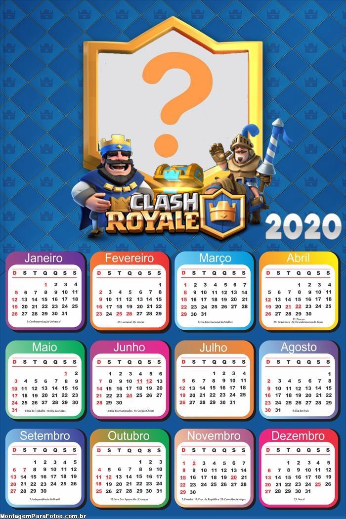 Calendário 2020 Clash Royale