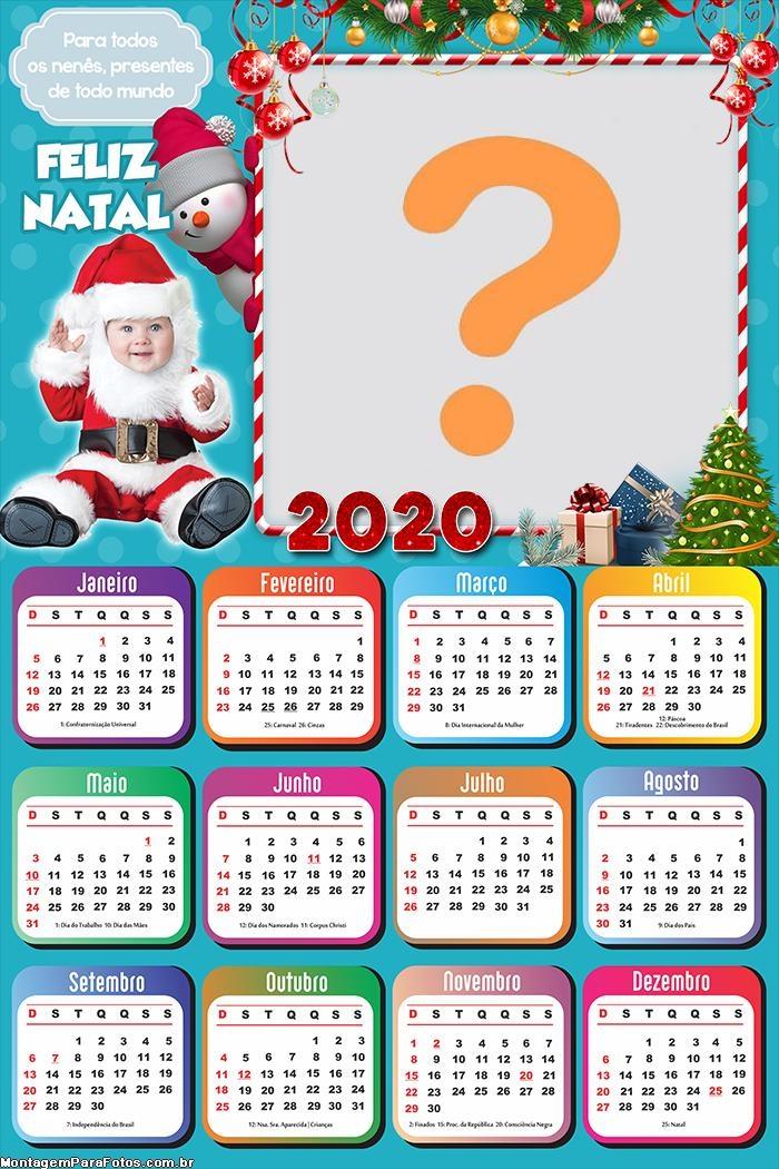 Calendário 2020 Papai Noel Baby