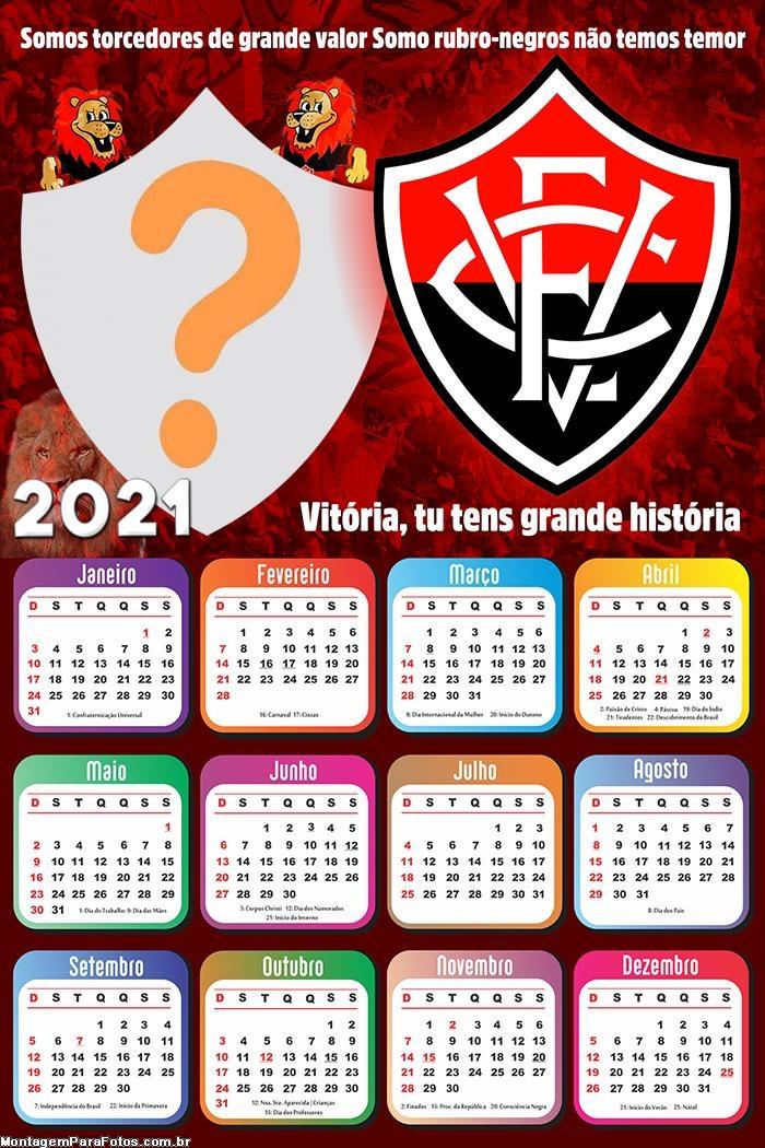 Calendário 2021 Vitória Time Futebol