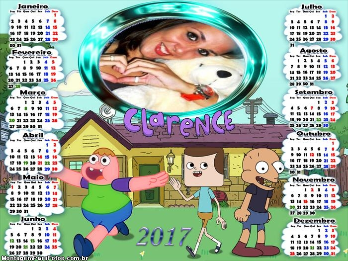 Calendário 2017 Clarence