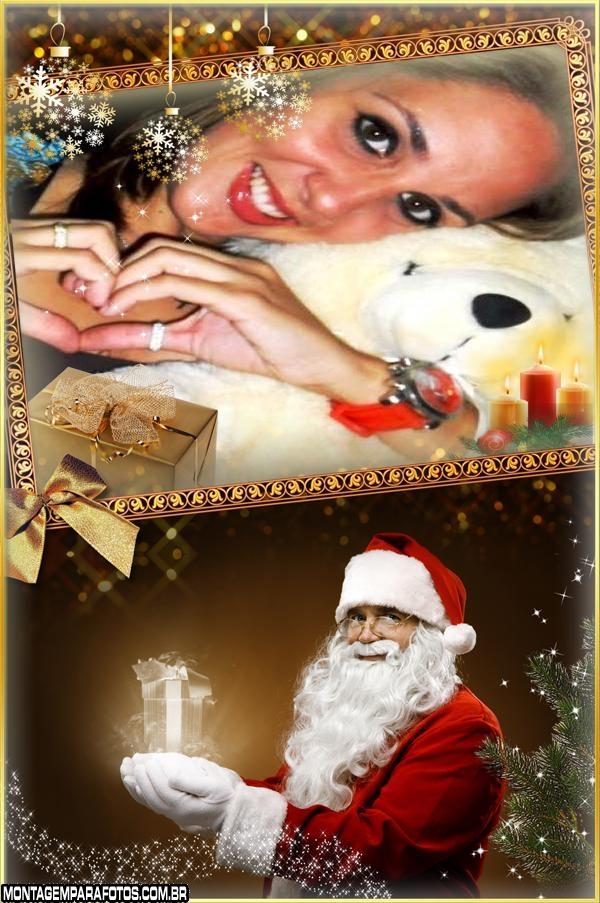 Papai Noel Verdadeiro Moldura