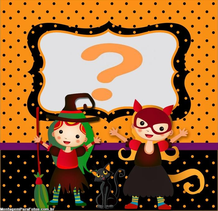Fantasias Halloween Moldura