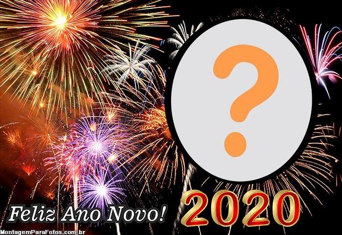 Montagem de Foto Grátis Ano Novo 2020