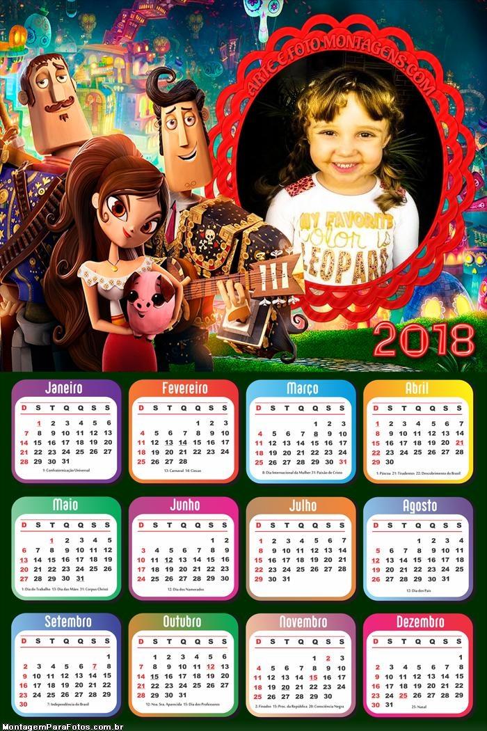 Calendário 2018 Festa no Céu