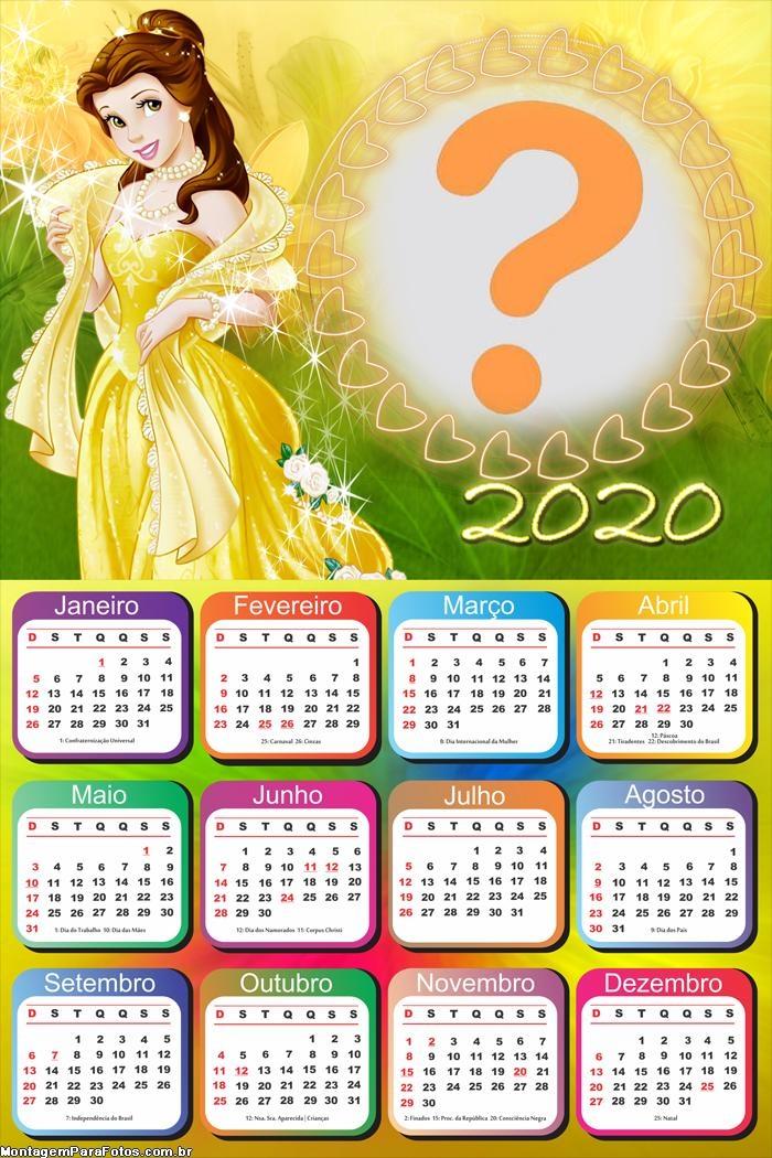 Foto Colagem Calendário 2020 da Bela