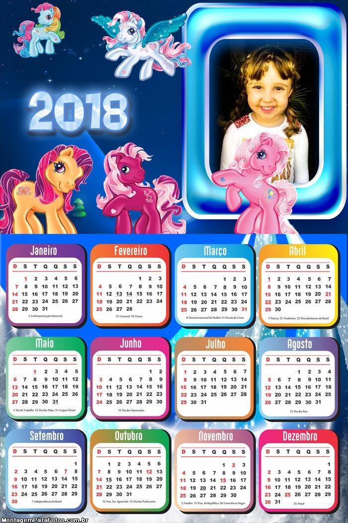 Calendário 2018 Ponny Desenhos