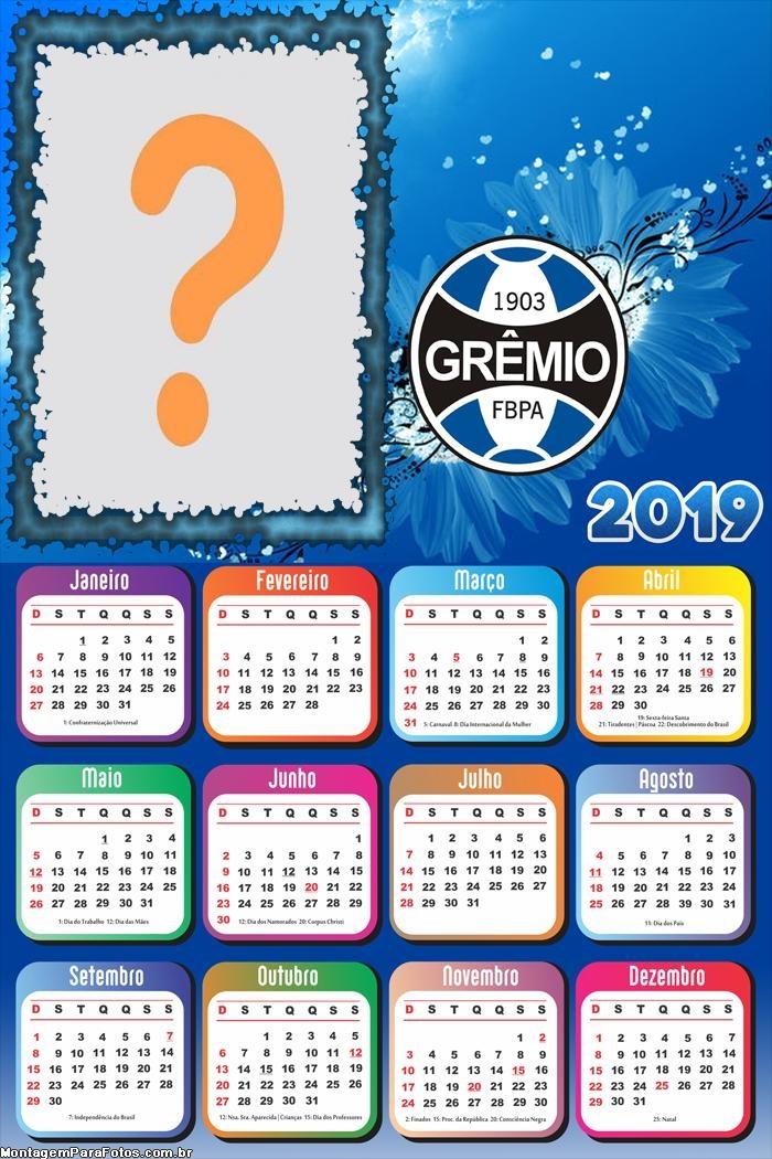 Calendário 2019 do Grêmio