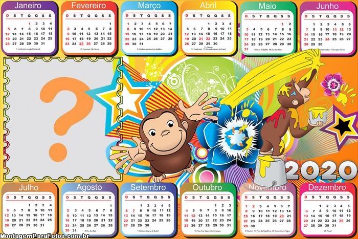 Calendário 2020 George o Curioso Horizontal