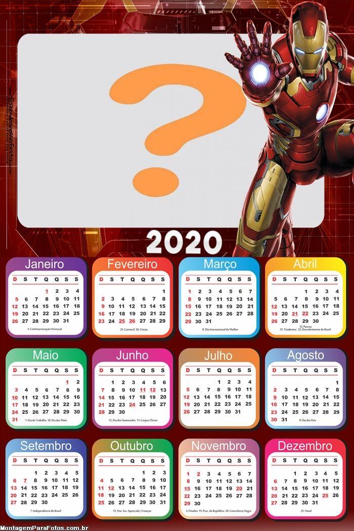 Calendario Ironman 2020.Molduras Para Fotos Calendario 2020 Iron Man Montagem Para