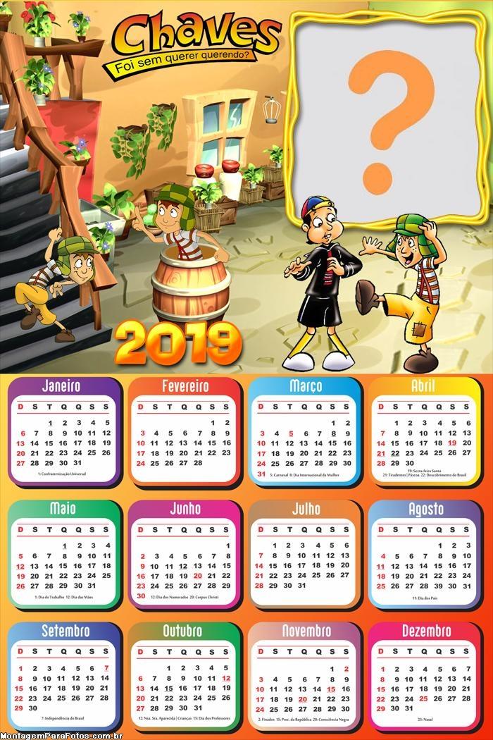 Calendário 2019 Chaves Desenho