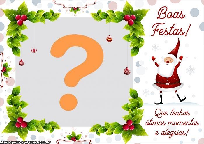 Boas Festas Foto Montagem Papai Noel