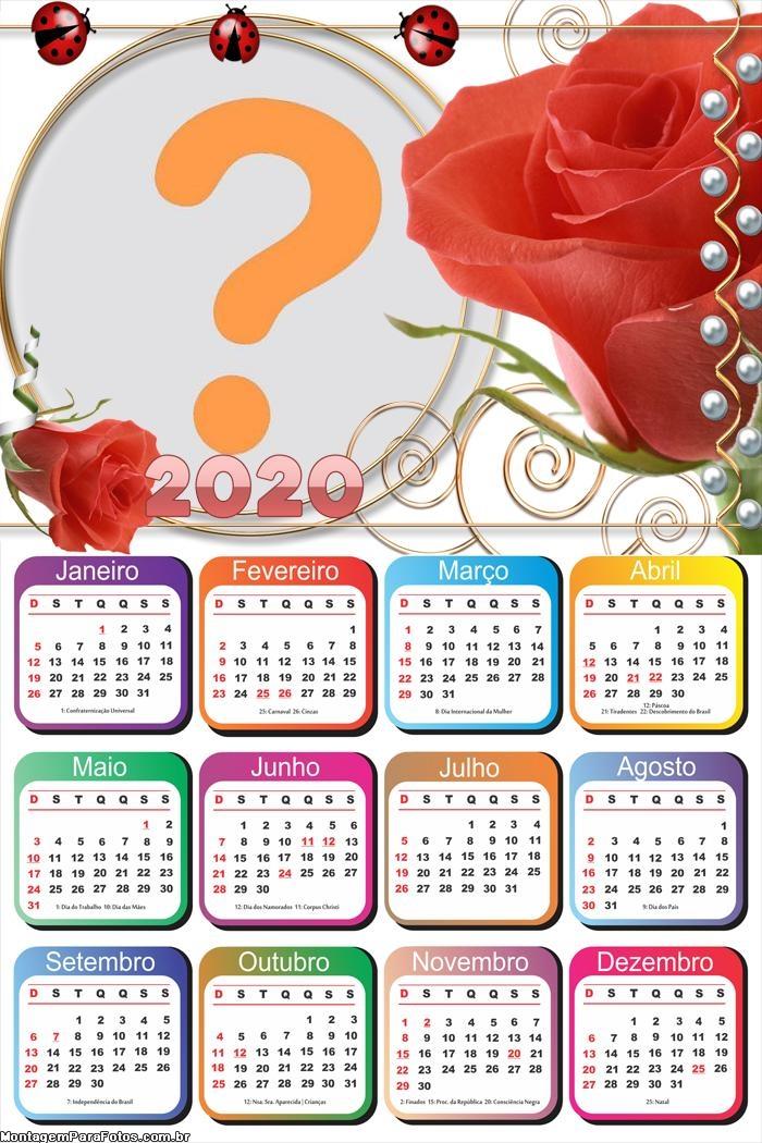 Calendário 2020 para seu Amor