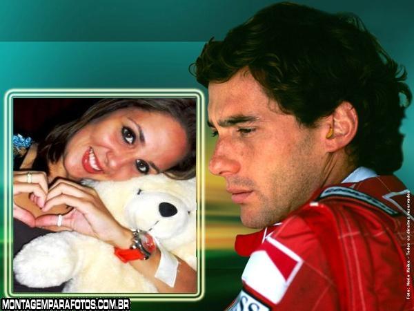 Moldura Ayrton Senna Piloto