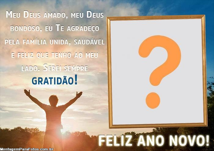 Foto Mensagem Gratidão Feliz Ano Novo