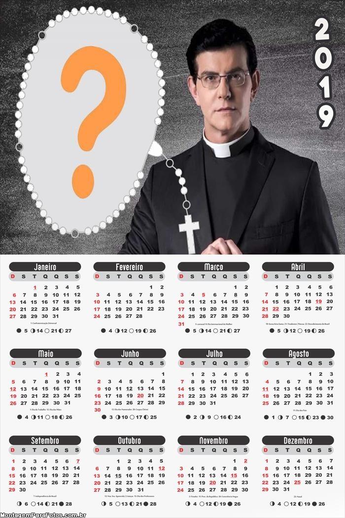 Calendário 2019 Padre Reginaldo Manzotti