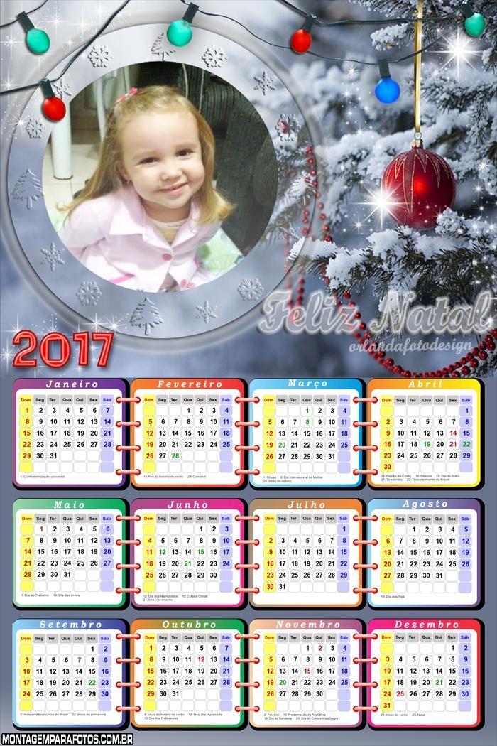 Calendário 2017 Luzes de Natal