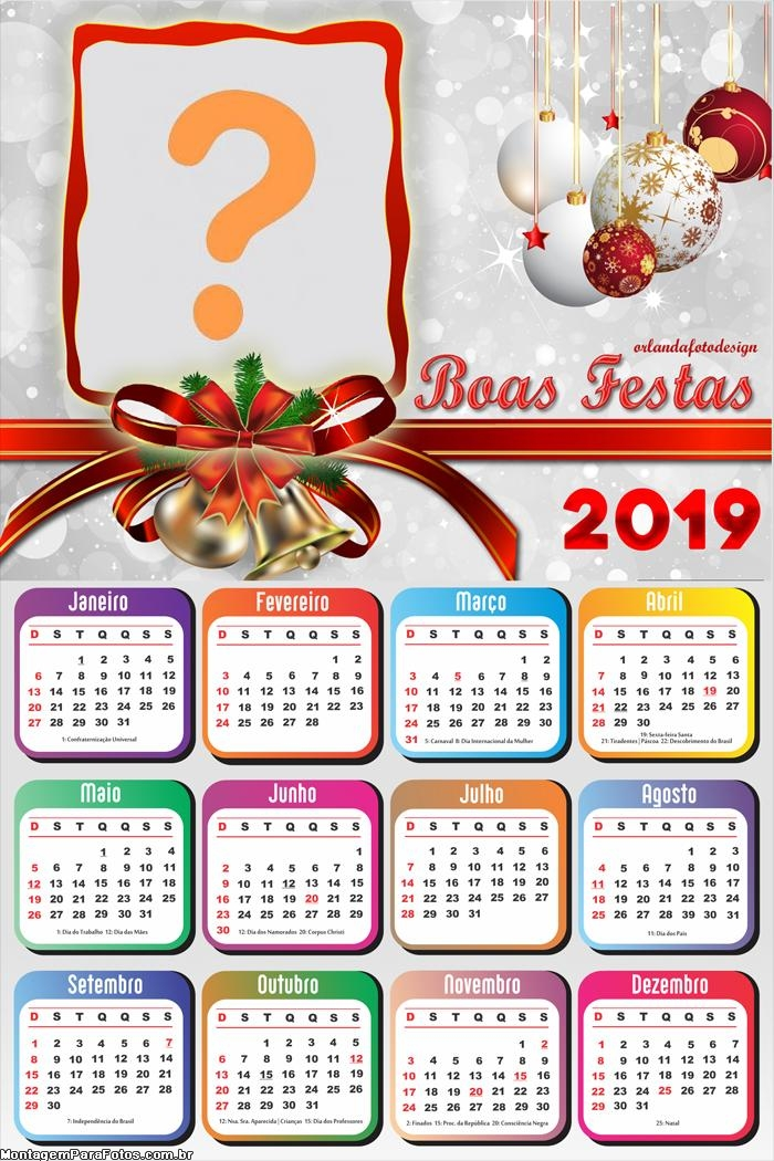 Calendário 2019 Boas Festas